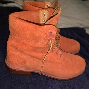 Timberland boot orange size 9 Timbs sale deal free